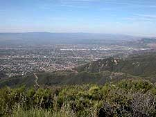 Looking North Across the San Fernando Valley of Los Angeles